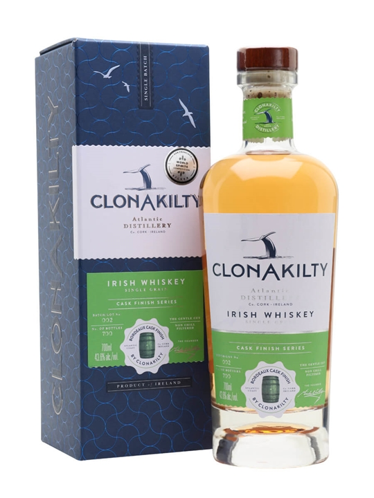 Clonakilty Single Grain Irish Whiskey / Bordeaux Wine Finish
