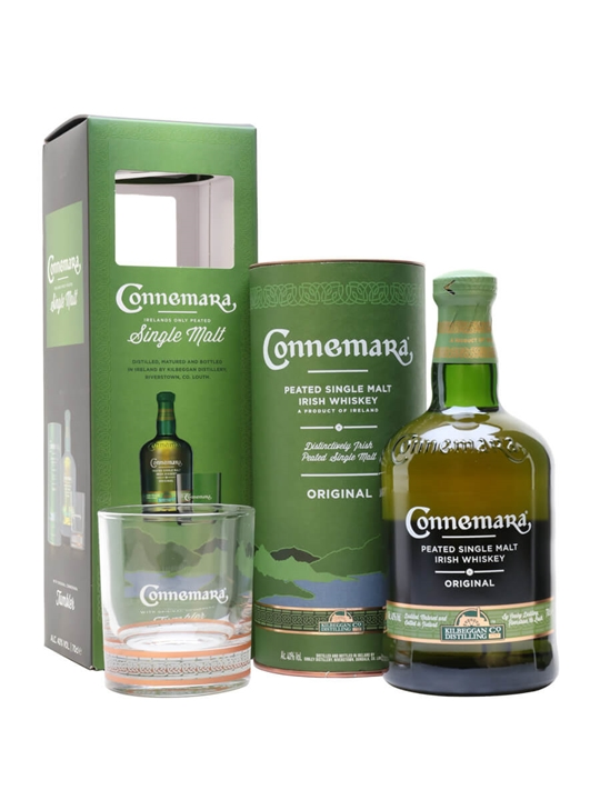 Connemara Peated Irish Whiskey Glass Pack Irish Single Malt Whiskey