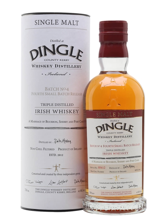 Dingle Triple Distilled Batch 4 Irish Single Malt Whiskey