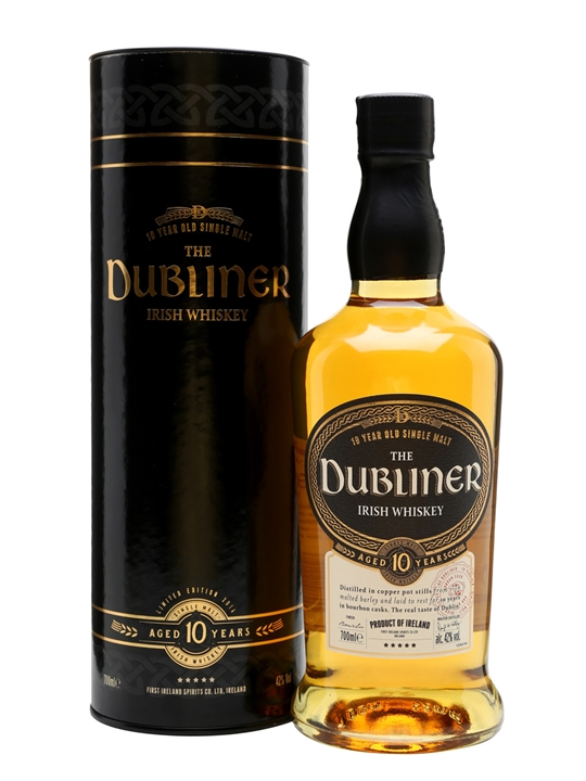 Dubliner 10 Year Old Irish Single Malt Whiskey