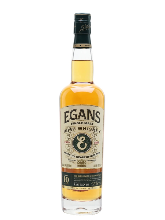 Egan's Single Malt Whiskey 10 Year Old Irish Single Malt Whiskey