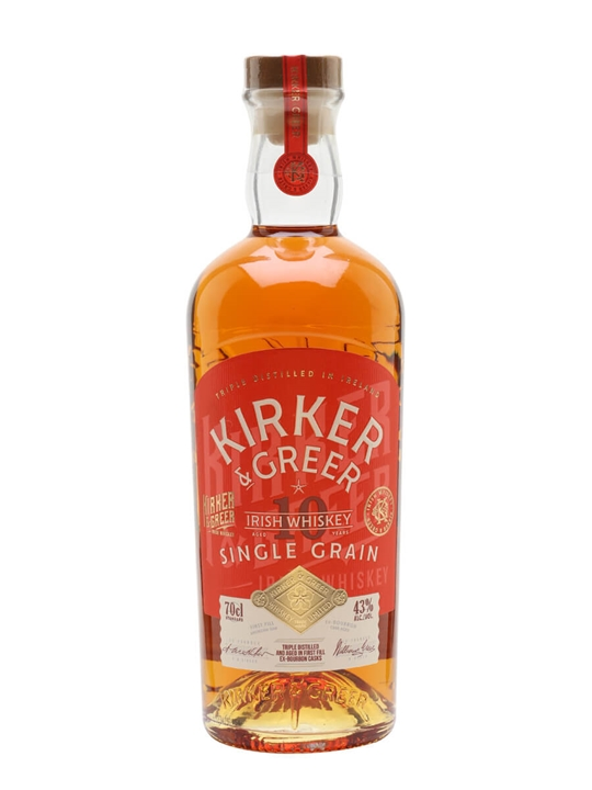 Kirker & Greer 10 Year Old Single Grain Irish Single Grain Whiskey