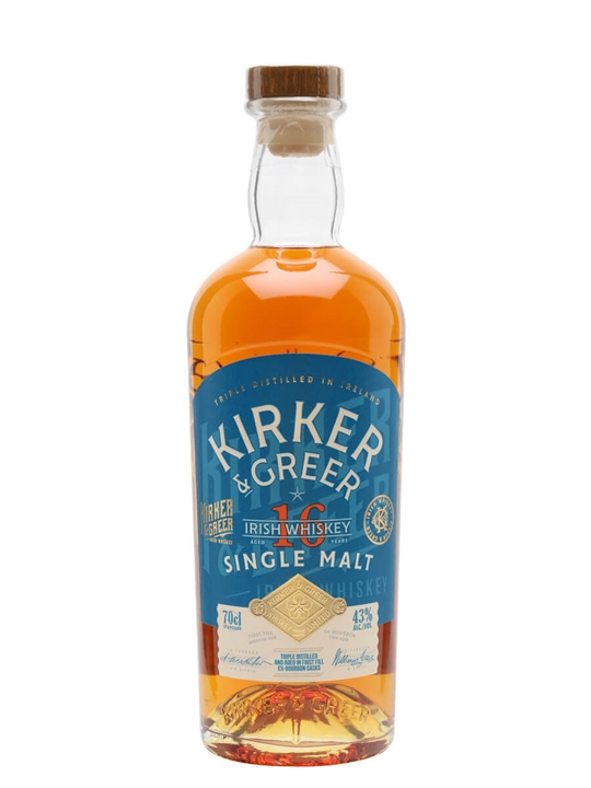 Kirker & Greer 16 Year Old Single Malt Irish Single Malt Whiskey