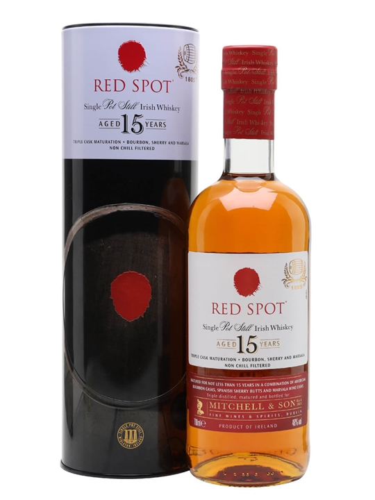 Red Spot 15 Year Old Irish Whiskey Single Pot Still Irish Whiskey
