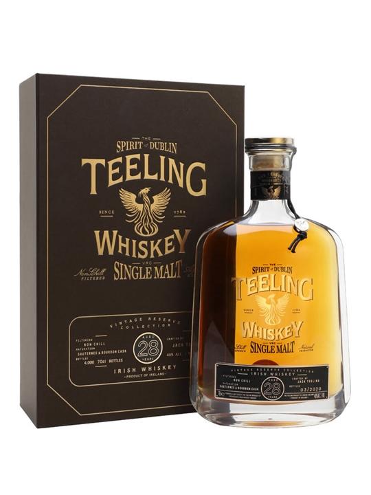 Teeling Single Malt 28 Year Old Irish Single Malt Whiskey