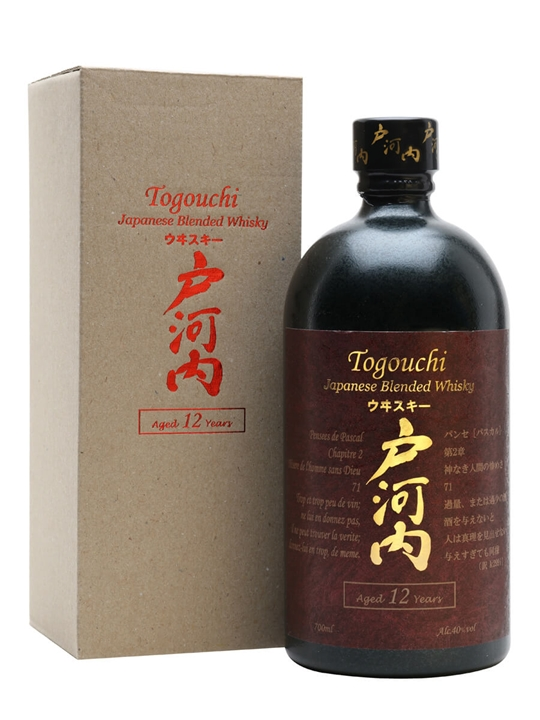 Togouchi Whisky 12 Year Old Japanese Blended Whisky