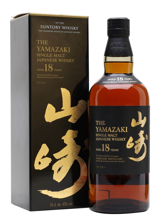 Suntory Yamazaki 18 Year Old Japanese Single Malt Whisky