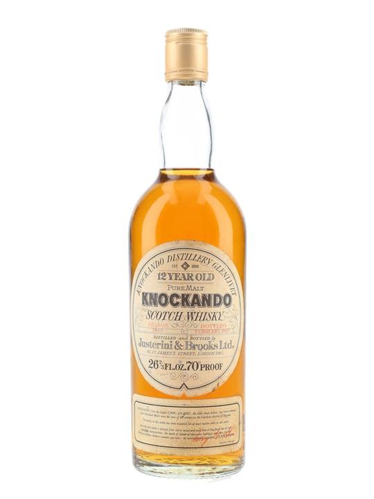 Knockando 1964 / 12 Year Old / Bot.1977 Speyside Whisky