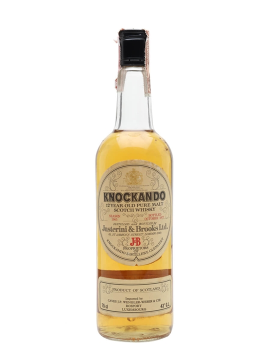 Knockando 1965 / 12 Year Old / Bot.1977 Speyside Whisky