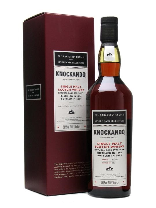 Knockando 1996  12 Year Old  Managers Choice  Sherry Cask Speyside Whisky