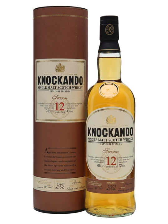 Knockando Season 2002 / 12 Year Old / Bourbon Cask Speyside Whisky
