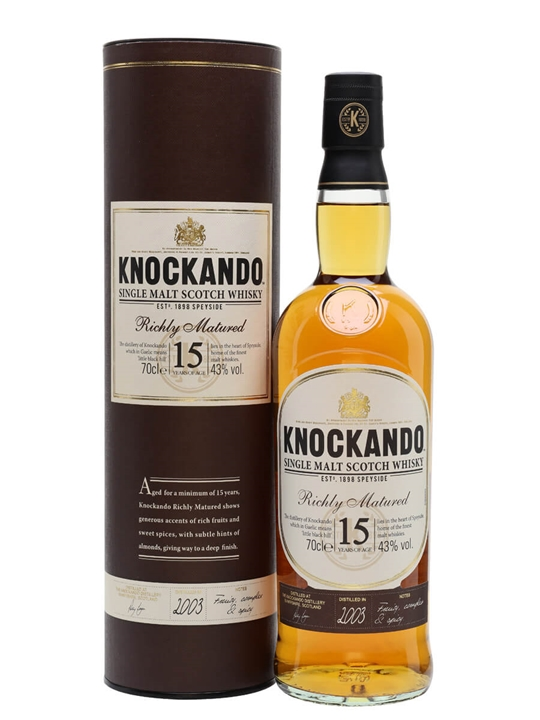 Knockando 2003 / 15 Year Old Speyside Single Malt Scotch Whisky