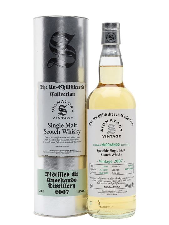Knockando 2007 / 12 Year Old / Signatory Speyside Whisky