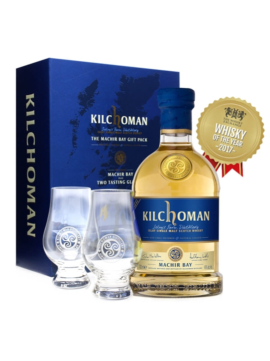 Kilchoman Machir Bay Gift Pack / 2 Tasting Glasses Islay Whisky