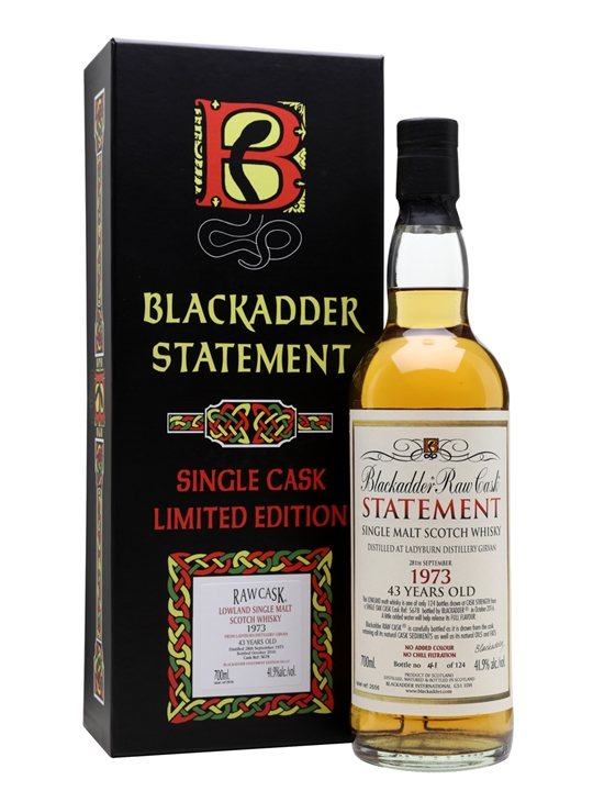 Ladyburn 1973 / 43 Year Old / Blackadder Statement No.17 Lowland Whisky