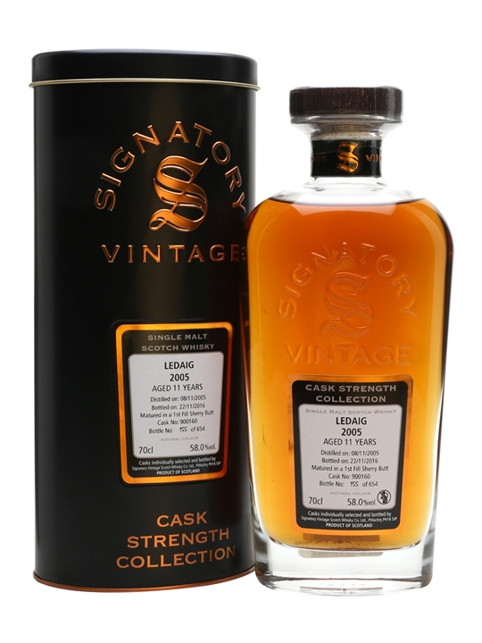 Ledaig 2005 / 11 Year Old / Cask #900160 / Signatory Island Whisky