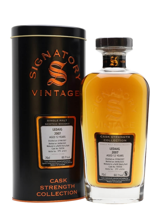 Ledaig 2007 / 12 Year Old / Signatory Island Single Malt Scotch Whisky