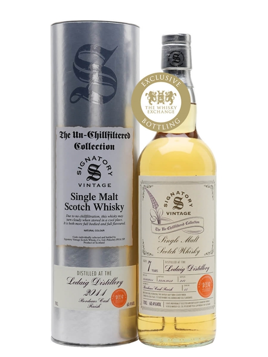 Ledaig 2011 / 7 Year Old / Bordeaux Cask / Signatory for TWE Island Whisky