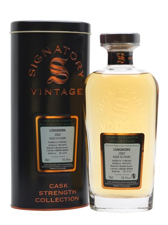 Longmorn 2002 / 16 Year Old / Signatory Speyside Whisky