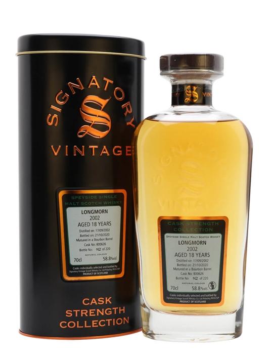 Longmorn 2002 / 18 Year Old / Signatory Speyside Whisky