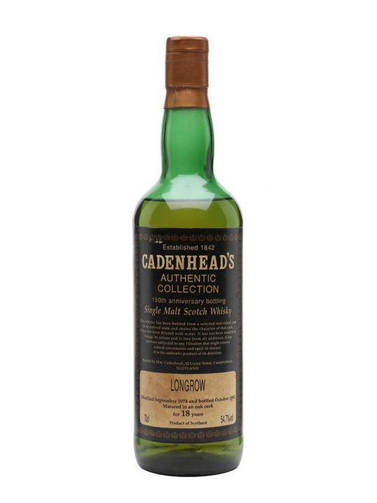Longrow 1974 / 18 Year Old / Cadenhead's Campbeltown Whisky