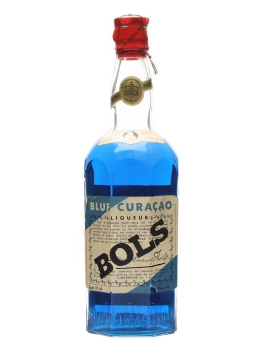 Bols Blue Curacao Liqueur / Bot.1950s