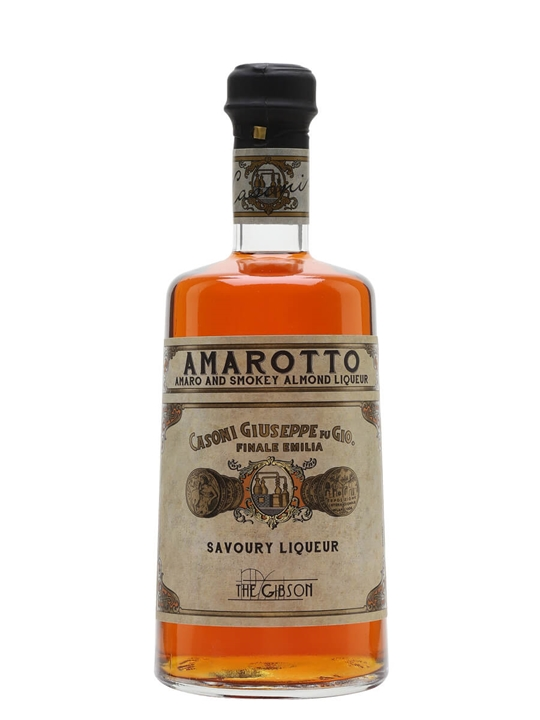 The Gibson Casoni Amarotto Amaro and Smoky Almond liqueur
