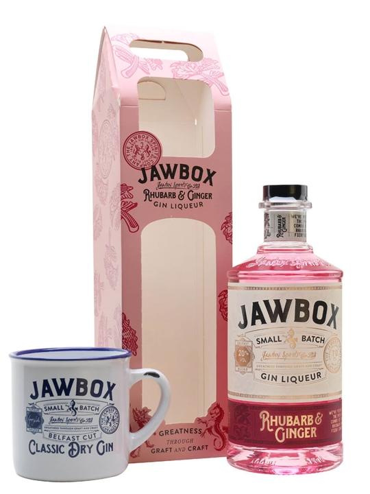 Jawbox Rhubarb & Ginger Gin Liqueur / Mug Set