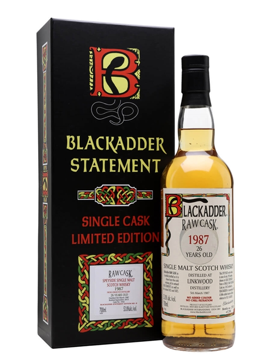 Linkwood 1987 / 26 Year Old / Blackadder Statement No.9 Speyside Whisky
