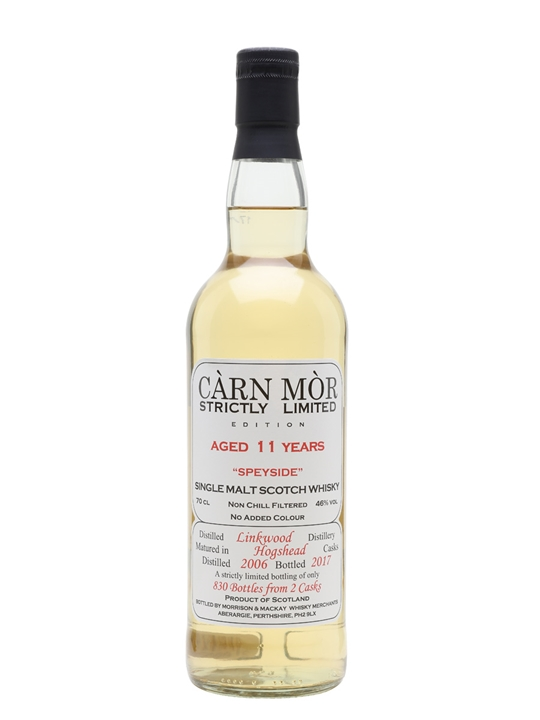 Linkwood 2006 / 11 Year Old / Carn Mor Strictly Limited Speyside Whisky