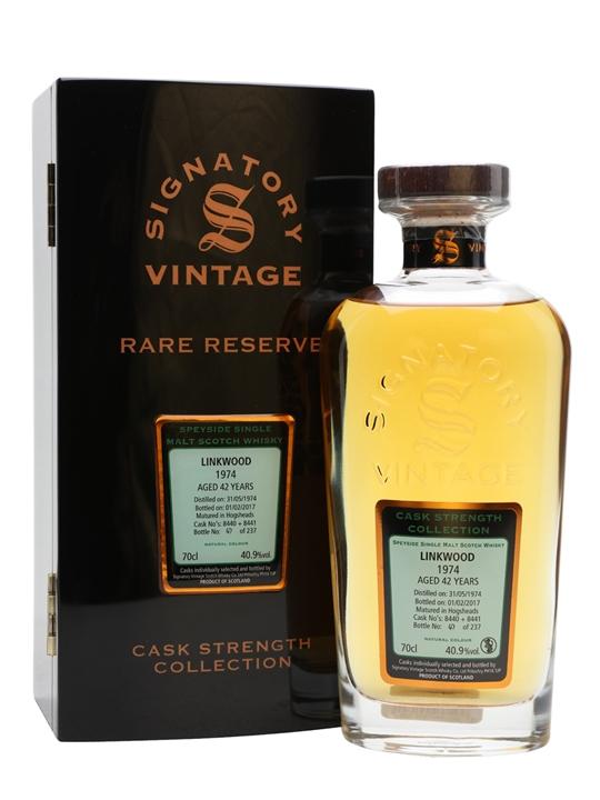 Linkwood 1974 / 42 Year Old / Rare Reserve / Signatory Speyside Whisky