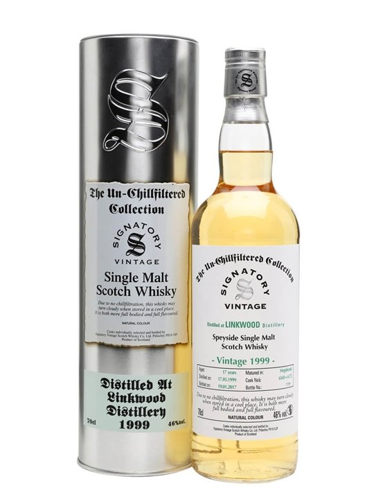 Linkwood 1999 / 17 Year Old / Signatory Speyside Whisky