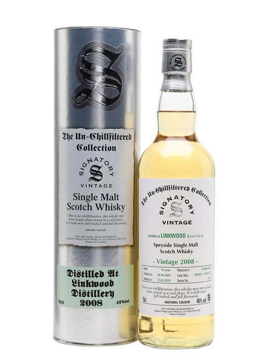 Linkwood 2008 / 10 Year Old / Signatory Speyside Whisky