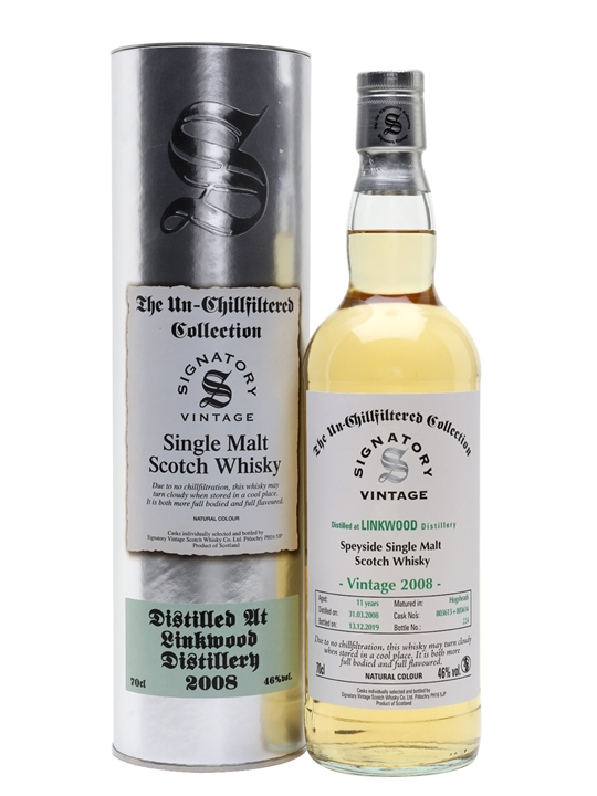 Linkwood 2008 / 11 Year Old / Signatory Speyside Whisky