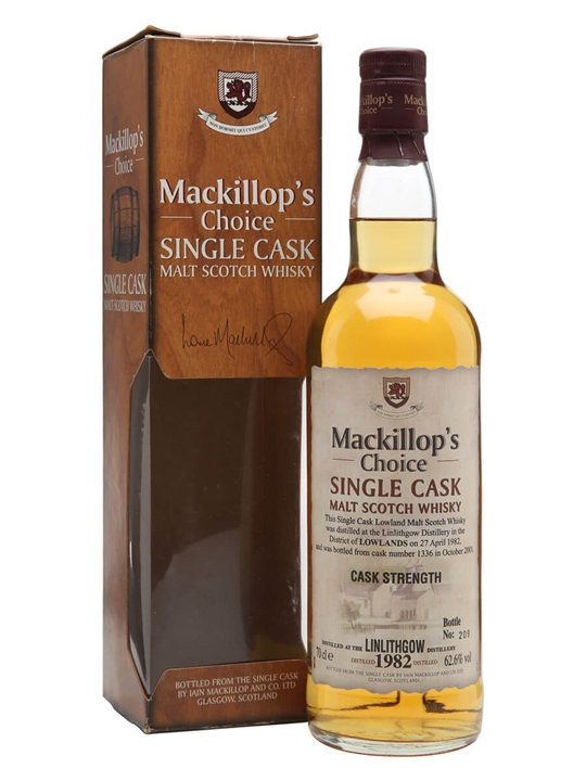 Linlithgow 1982 / 19 Year Old / Mackillop's Choice Lowland Whisky
