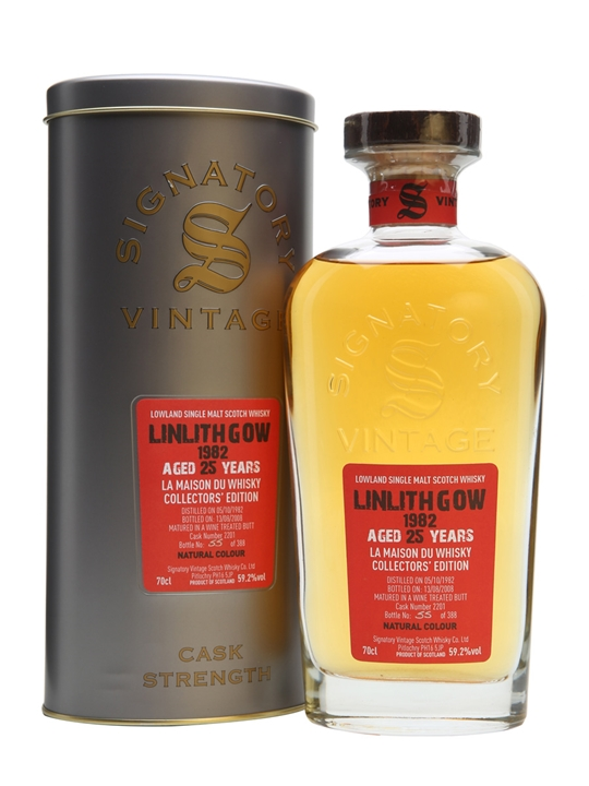 Linlithgow 1982 / 25 Year Old / For La Maison Du Whisky Lowland Whisky