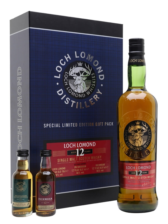 Loch Lomond 12 Year Old Gift Set Highland Single Malt Scotch Whisky