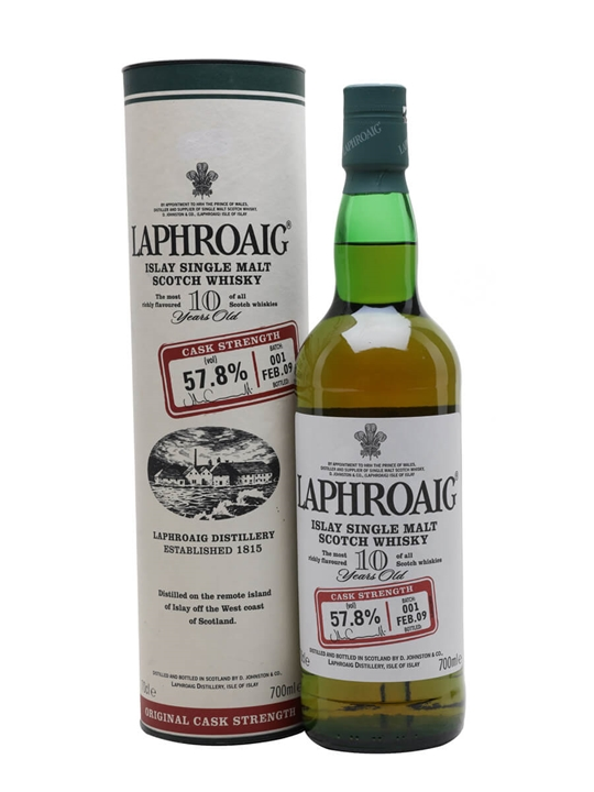 Laphroaig 10 Year Old Cask Strength / Batch 001 / Bot.2009 Islay Whisky