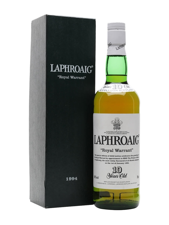 Laphroaig 10 Year Old Royal Warrant / Bot.1994 Islay Whisky