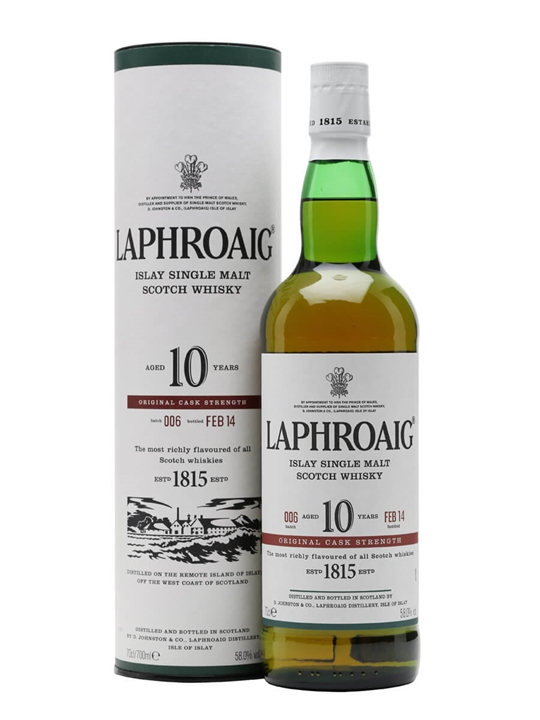 Laphroaig 10 Year Old Cask Strength / Batch 006 / Bot.2014 Islay Whisky