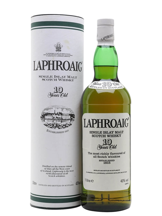 Laphroaig 10 Year Old / Bot.1990s / Post Royal Warrant Islay Whisky