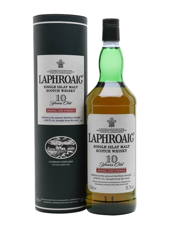 Laphroaig 10 Year Old / Cask Strength / 1 Litre Islay Whisky