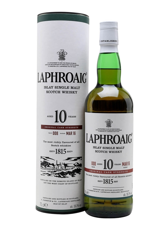 Laphroaig 10 Year Old Cask Strength / Batch 008 Islay Whisky