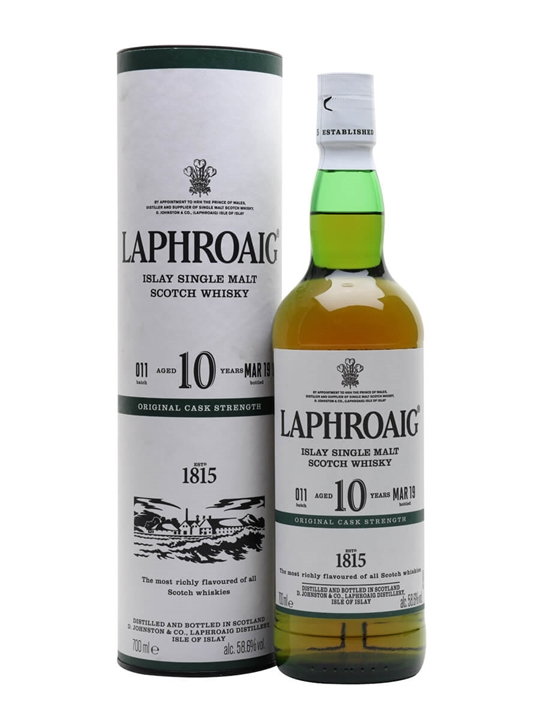 Laphroaig 10 Year Old / Cask Strength / Batch 011 / Bot.2019 Islay Whisky