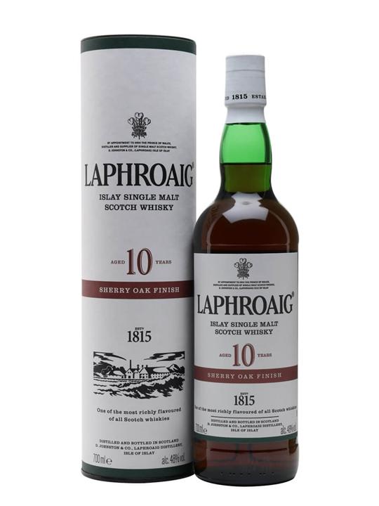 Laphroaig 10 Year Old Sherry Oak Finish Islay Whisky