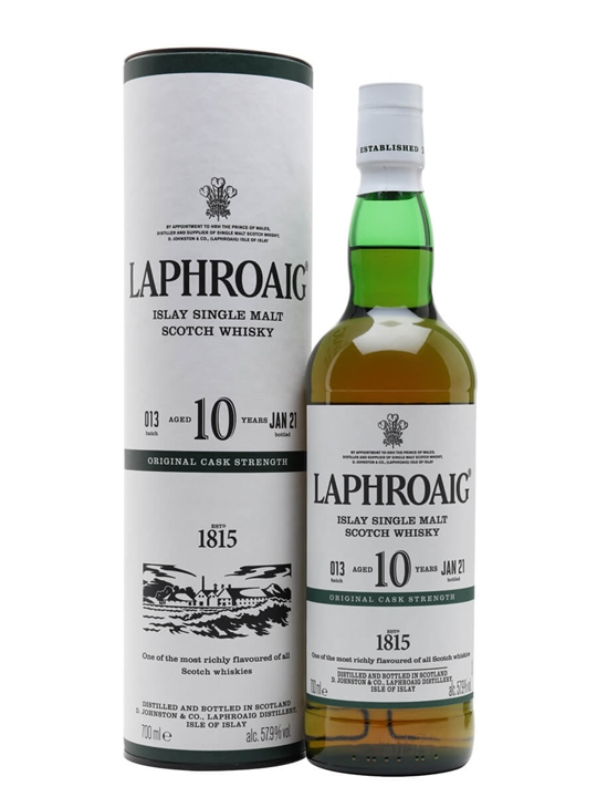 Laphroaig 10 Year Old / Cask Strength / Batch 013 / Bot.2021 Islay Whisky