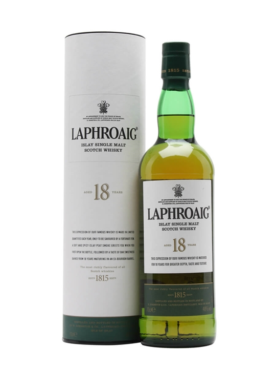 Laphroaig 18 Year Old Islay Single Malt Scotch Whisky