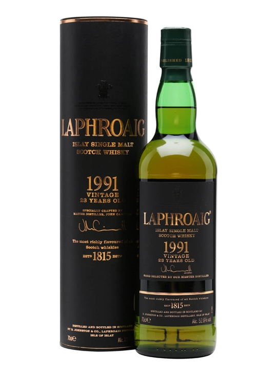 Laphroaig 1991 / 23 Year Old Islay Single Malt Scotch Whisky