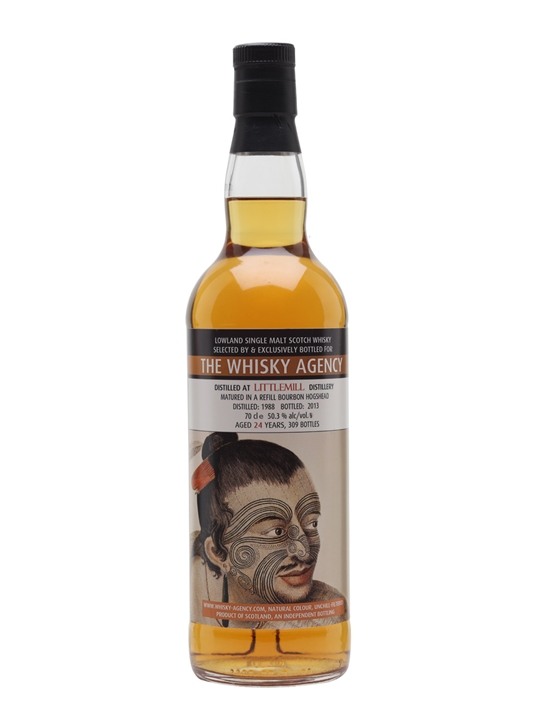 Littlemill 1988 / 24 Year Old / The Whisky Agency Lowland Whisky