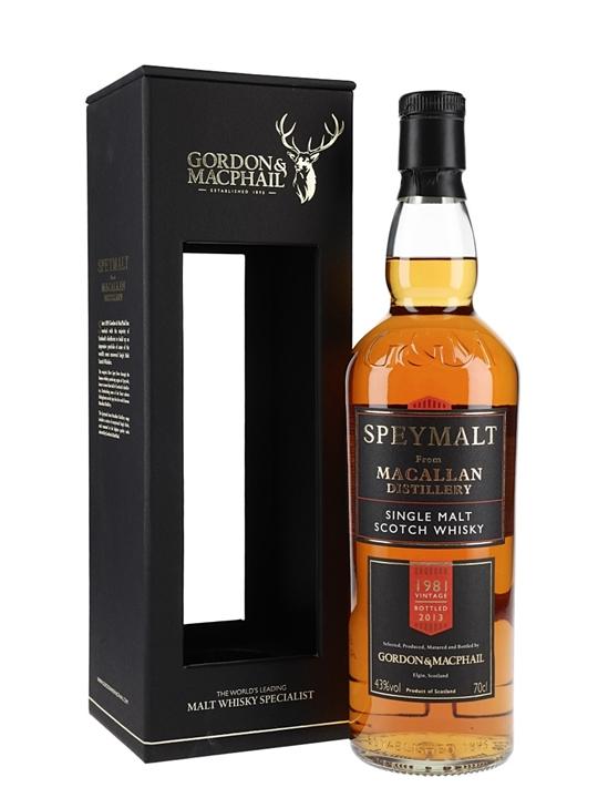 Macallan 1981 / Bot.2013 / Speymalt / Gordon & Macphail Speyside Whisky